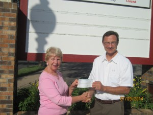 Walk on Waconia food shelf donation